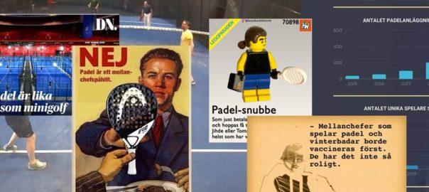 padelcollage med bilder saxade från DN, Henrik Wahlströms och Wistis instagram samt statistik från elitepadel.s